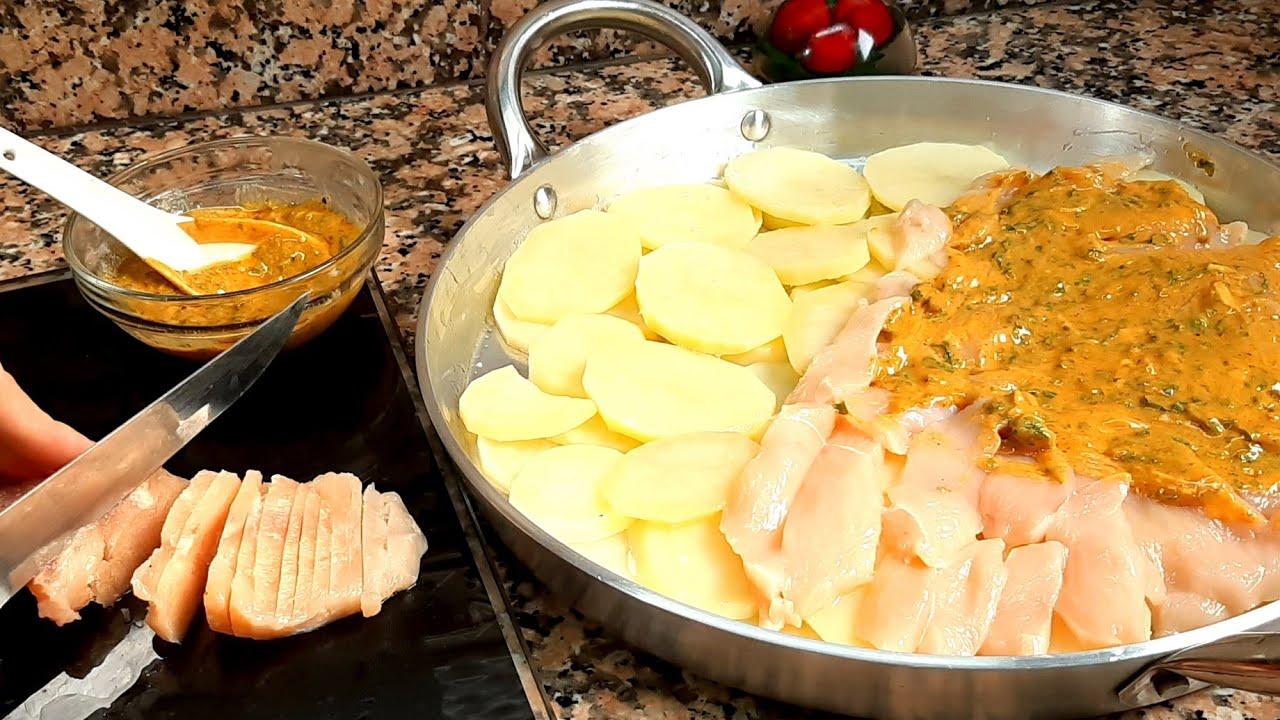 غير بالبطاطس وقليل من صدر الدجاج ✔حضري وجبة سريعة غدي تحماقو عليها سهلة جدا والمذاااق منقلكمش رااائع