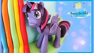 TWILIGHT SPARKLE My Little Pony kids cake topper tutorial