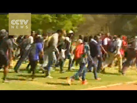 Police arrest 31 students in South Africa