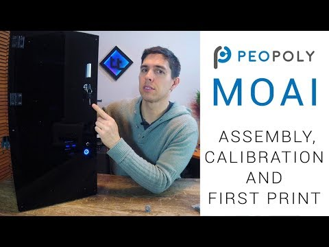 Peopoly Moai SLA printer - Assembly, calibration and first print