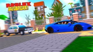 ROBLOX JAIL BREAK ROCKET FUEL UPDATE - LAMBORGHINI E LAMBORGHINI CON ROCKET FUEL CAN FLY!!