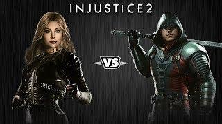 Injustice 2 - Чёрная Канарейка против Робина - Intros & Clashes (rus)
