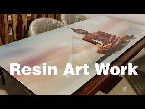 DIY epoxy resin clear coat on Photograph ( Wall Art)