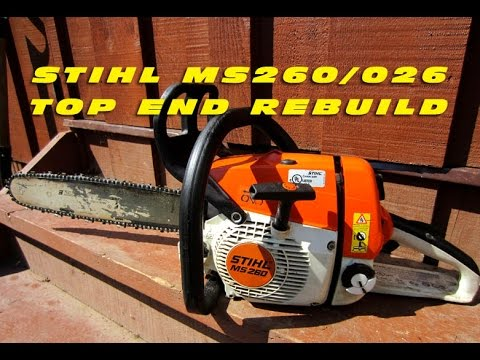 Top End Rebuild On Stihl MS260 Chainsaw With Force-Tec Cylinder Kit