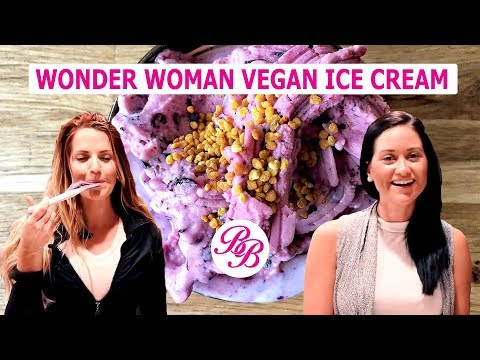 """Blueberry """"Wonder Woman"""" Vegan Ice Cream 