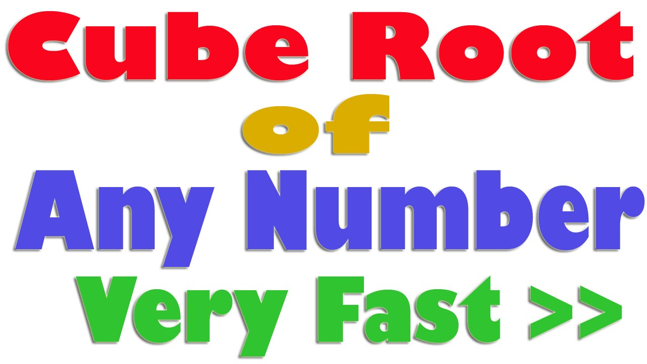 Vedic Maths Trick : Cube Root Of Any Number in a Very Fast Way in ...