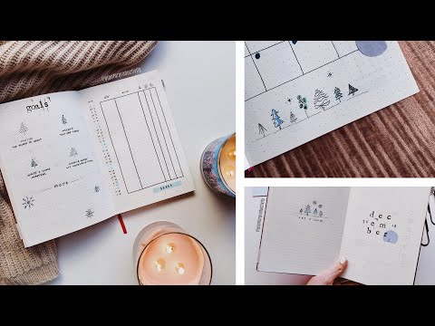 December 2019 Bullet Journal Set Up & Plan With Me   Easy Stamps and Doodles thumbnail