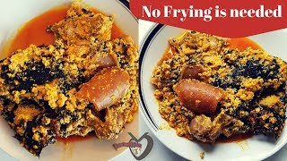 How to cook Egusi Soup | Easiest and Fastest Method | No Fryin…