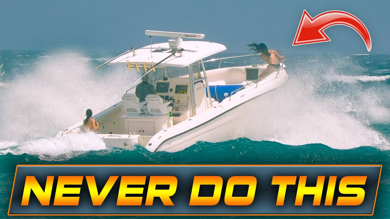 WHAT IS SHE DOING!? BAD BOAT IDEAS AT BOCA INLET! | HAULOVER INLET | WAVY BOATS