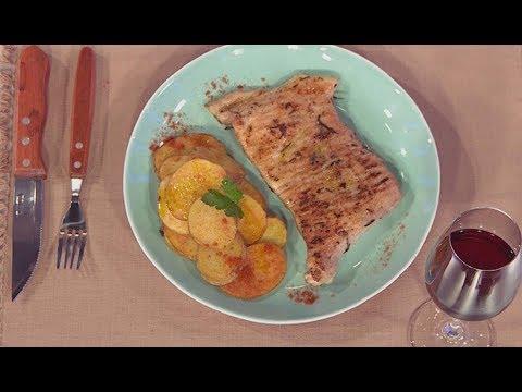Matambre de cerdo con papas a la española - Cucinare