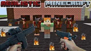 REALISTIC MINECRAFT - STEVE RESCUES ALEX! Steve Arnold and Alex Survive 10,000 TNT Explosion!