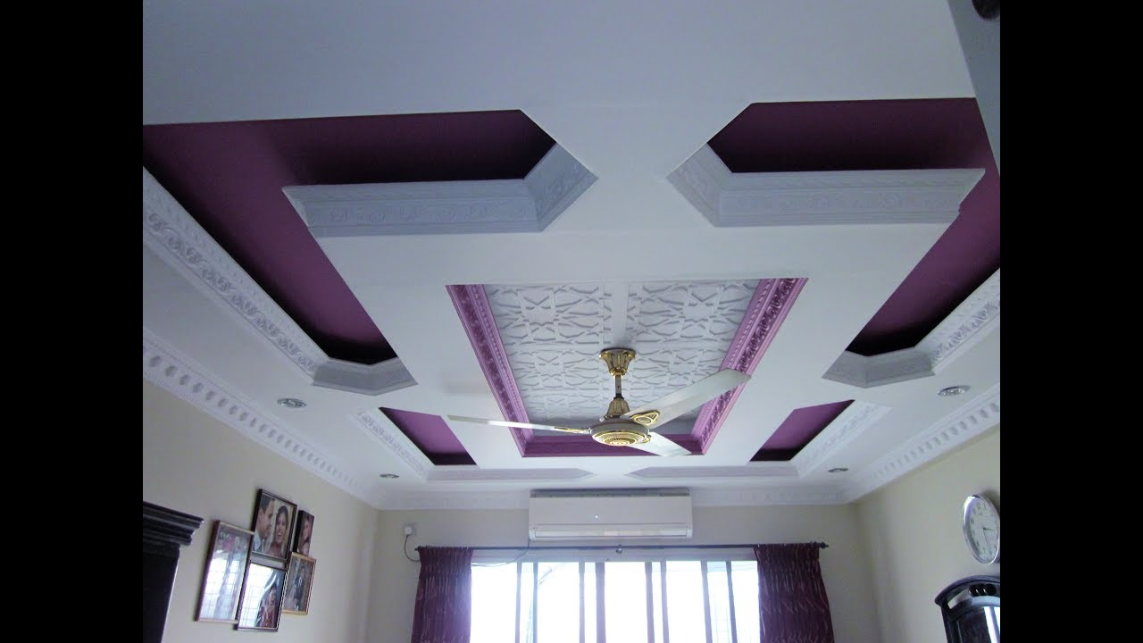 Gypsum Fasle Ceiling Decoration Colour Design 01750999477 Dhaka Bangladesh Nova Gypsum Design Youtube