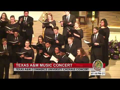 Texas A&M Commerce University Chorale Concert at the Dallas Cathedral