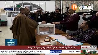 رئيس المجلس الشعبي الوطني  سليمان شنين يؤدي واجبه الانتخابي