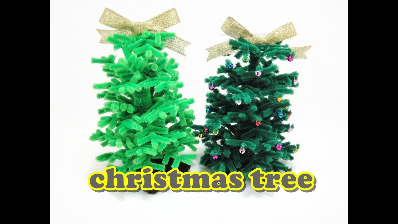 christmas craft chenille stem pipe cleaners christmas tree