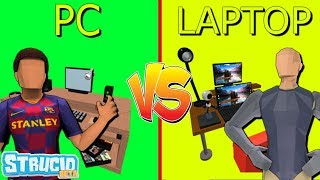 PC Players Vs LAPTOP Players In Strucid (Roblox)
