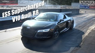 Supercharged V10 Audi R8 Blows Rear Diff Launching!