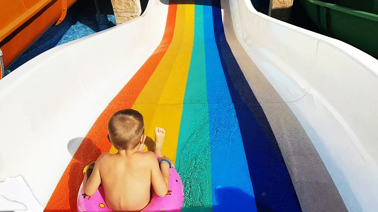 Water slide for little kids Bogdy from KIDS TOYS CHANNEL Short