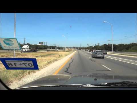 Driving to Downtown San Antonio, TX on Loop 1604 and I-10 East
