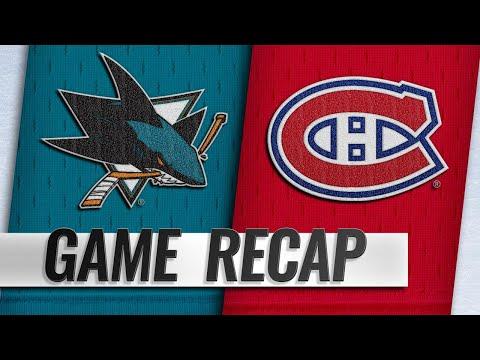 Burns, Pavelski lead Sharks past Habs, 3-1
