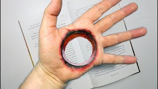 3D trick art - Hole in the hand - By Vamos