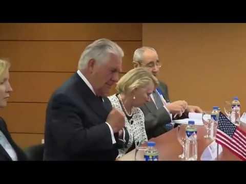 WATCH: Secretary Rex Tillerson Meets Russian Foreign Minister Sergey Lavrov