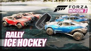 Forza Horizon 3 - Ice Hockey! (Mini Games & Random Fun)