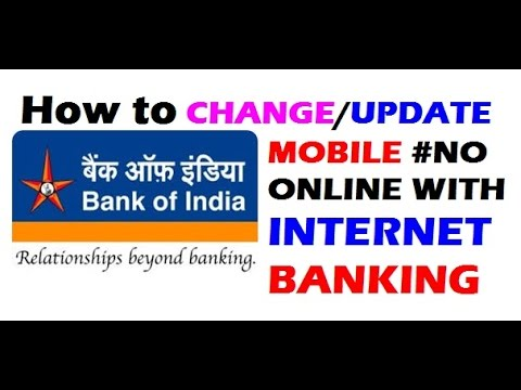 How To Change/Update BOI Mobile Number Online | Step by Step | BOI Internet Banking | Hindi