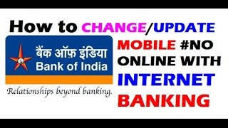 How To Change/Update BOI Mobile Number Online   Step by Step   BOI Internet Banking   Hindi