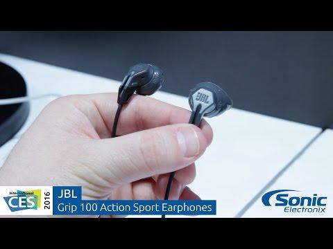 f4ba19cc10e JBL Grip 100 Action Sport In-Ear Headphones | CES 2016 - YouTube