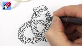 How to draw Celtic Snake Knots