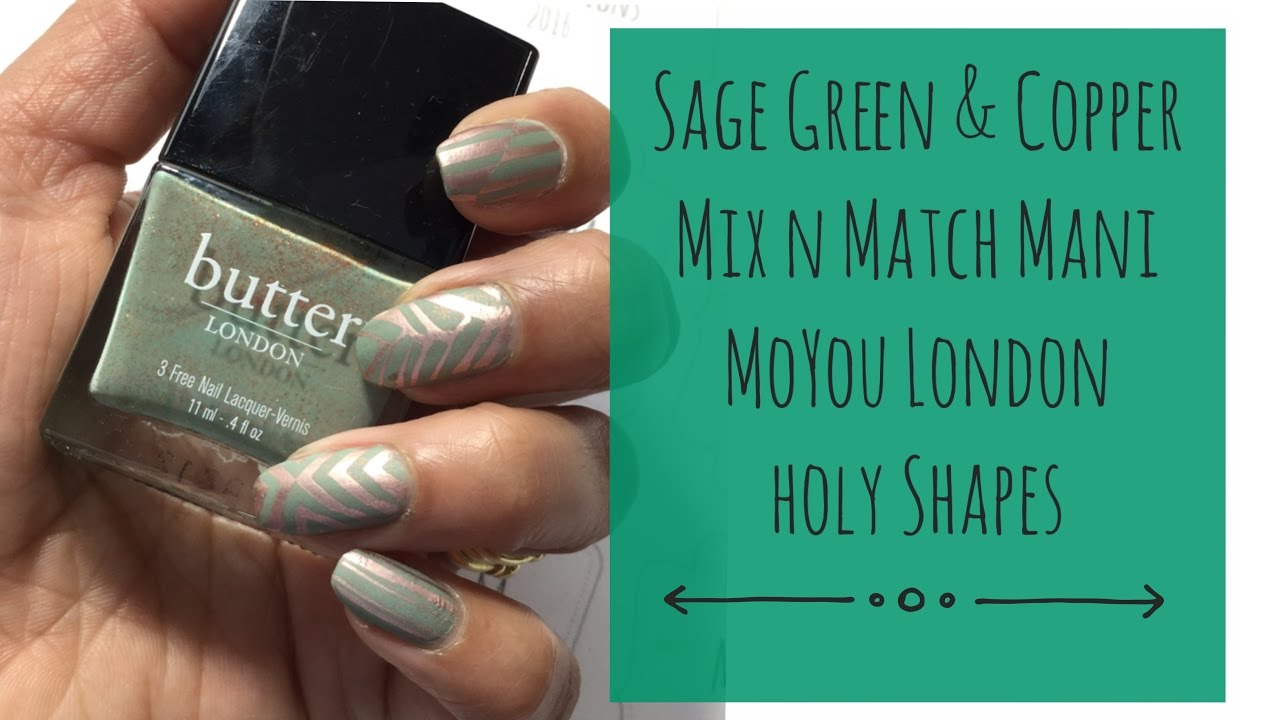Sage Green Copper Mani Mix N Match Moyou Holy Shapes
