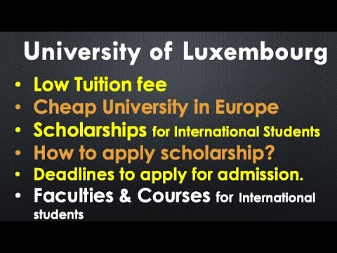 University of Luxembourg [Study in Luxembourg, Scholarships]