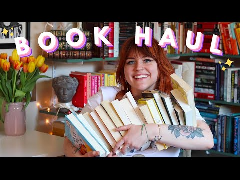 BOOK HAUL 💛🍏 (and a little book shopping with Ellias!)