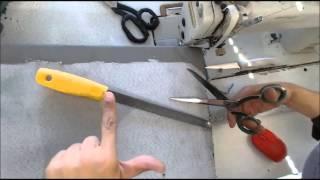Aprenda Afiar tesouras para corte de tecido