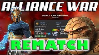 Ægon In War | Alliance War | 5/65 Thing Boss Rematch | Marvel Contest of Champions