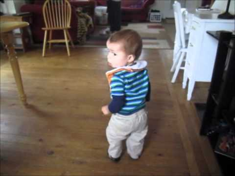 A toddler's first steps