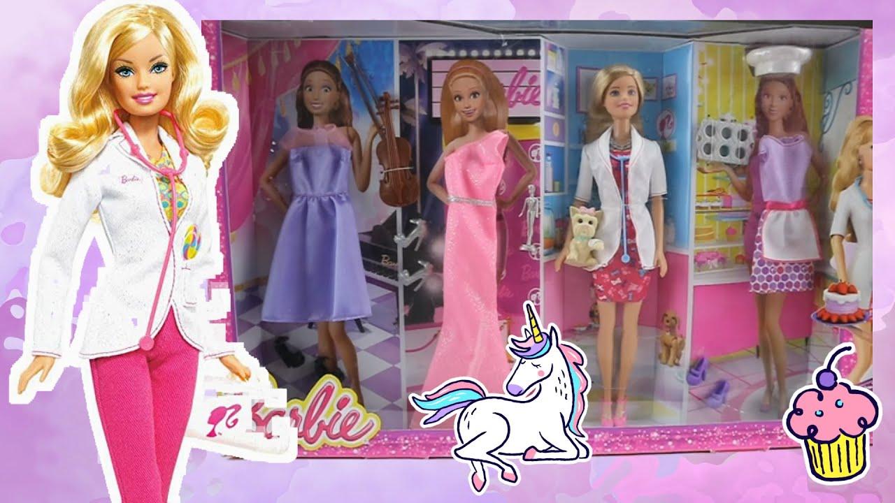 Mainan Boneka Barbie Profesi 💖 Belajar Profesi 💖 Unboxing Mainan Anak Perempuan