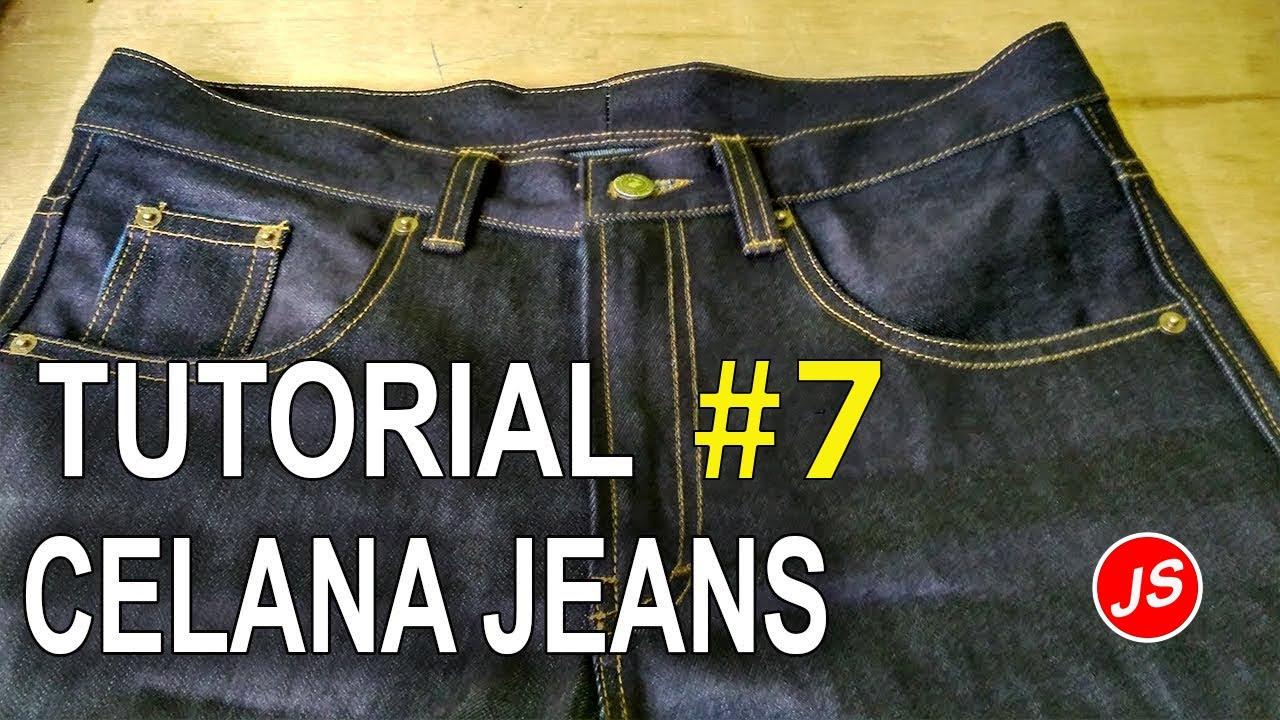 Membuat Ban Pinggang Cara Menjahit Celana Jeans 7 Youtube