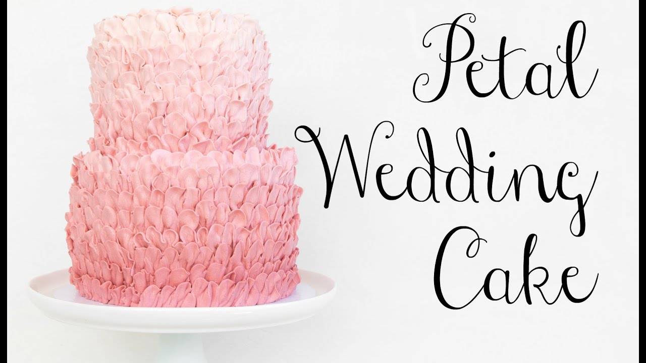 Pink Petal Buttercream WEDDING CAKE! - CAKE STYLE - YouTube