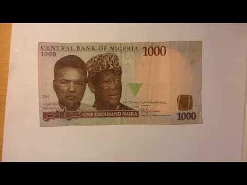 Central bank of Nigeria one thousand Naira