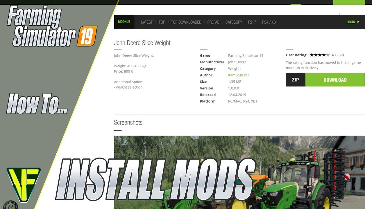 How To Install Mods In Farming Simulator 19 Youtube
