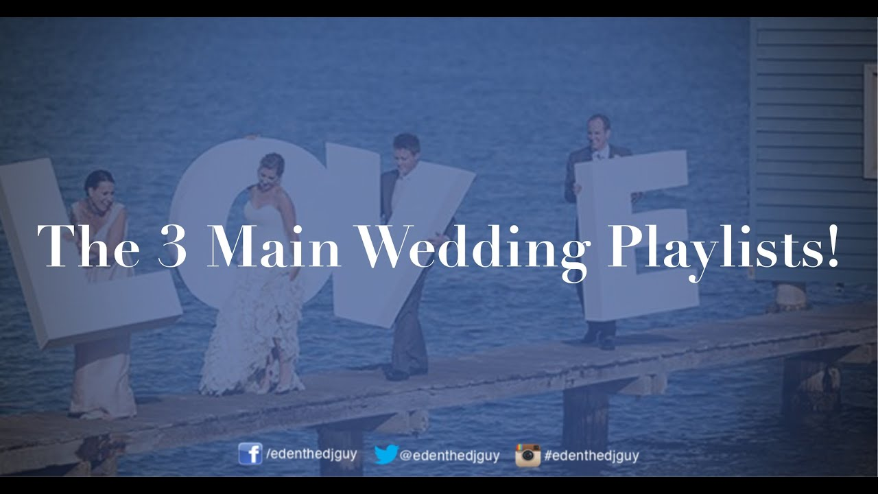 The 3 types of wedding playlists perth wedding dj youtube the 3 types of wedding playlists perth wedding dj junglespirit Gallery