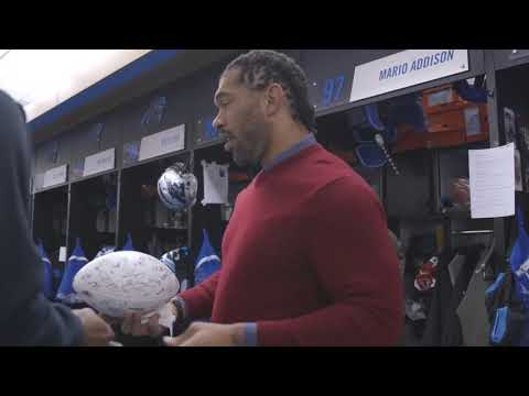 Julius Peppers on Locker Room Clean Out
