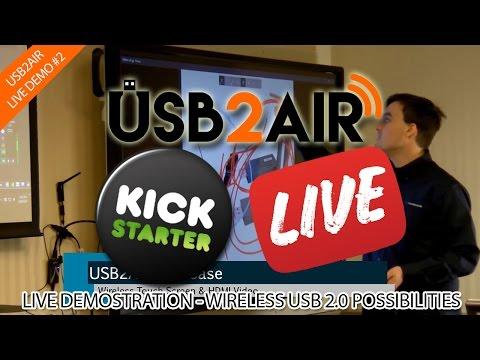 Making Touch Screens Wireless - USB2Air Kickstarter Live #2