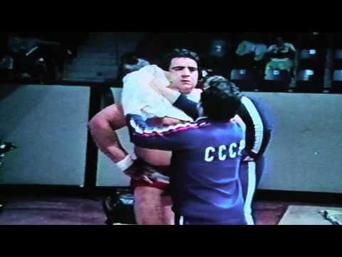 Soviet weightlifter Vasili Alexeev wins 1976 Montreal Olympic gold