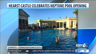 Hearst castle hosts a soiree to celebrate the complete renovation of the Neptune Pool