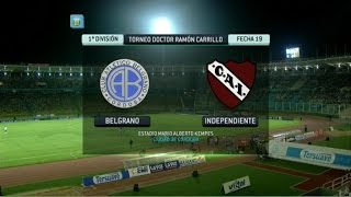 Fútbol en vivo. Belgrano - Independiente. Fecha 19. Torneo Primera División 2014. FPT.