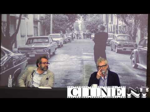 Conferencia de film Roma CDMX Alfonso Caurón y Eugenio Caballero