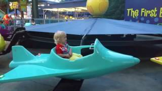 Carowinds Theme Park Summer  Fun For Kids Snoopy Airplane Ride 2016 Agnessa family